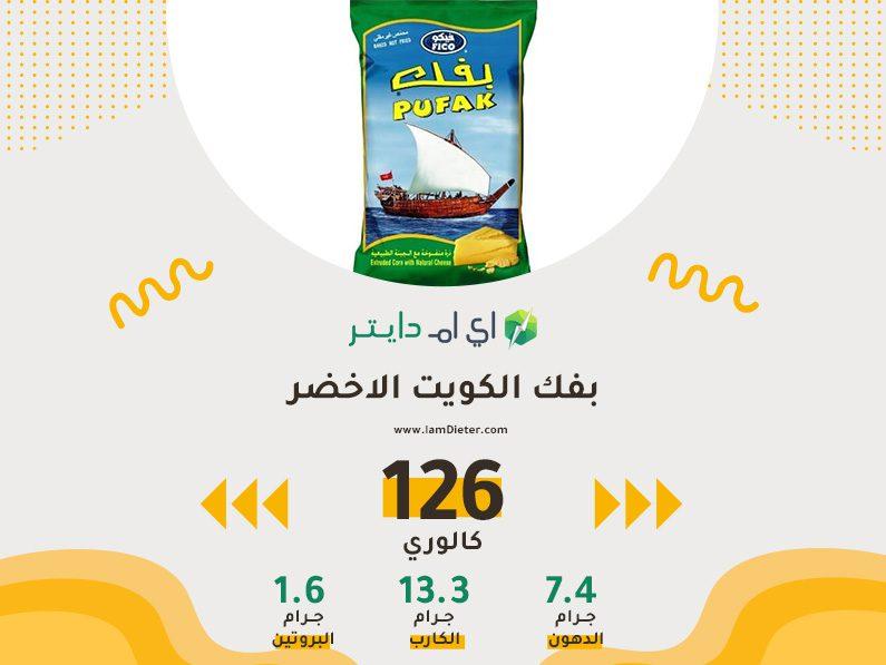 السعرات الحرارية في بفك الكويت الاخضر ابو سفينة
