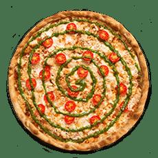 بيتزا بيستو بزيت الزيتون