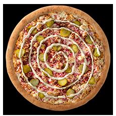 بيتزا دجاج الأرابيسك