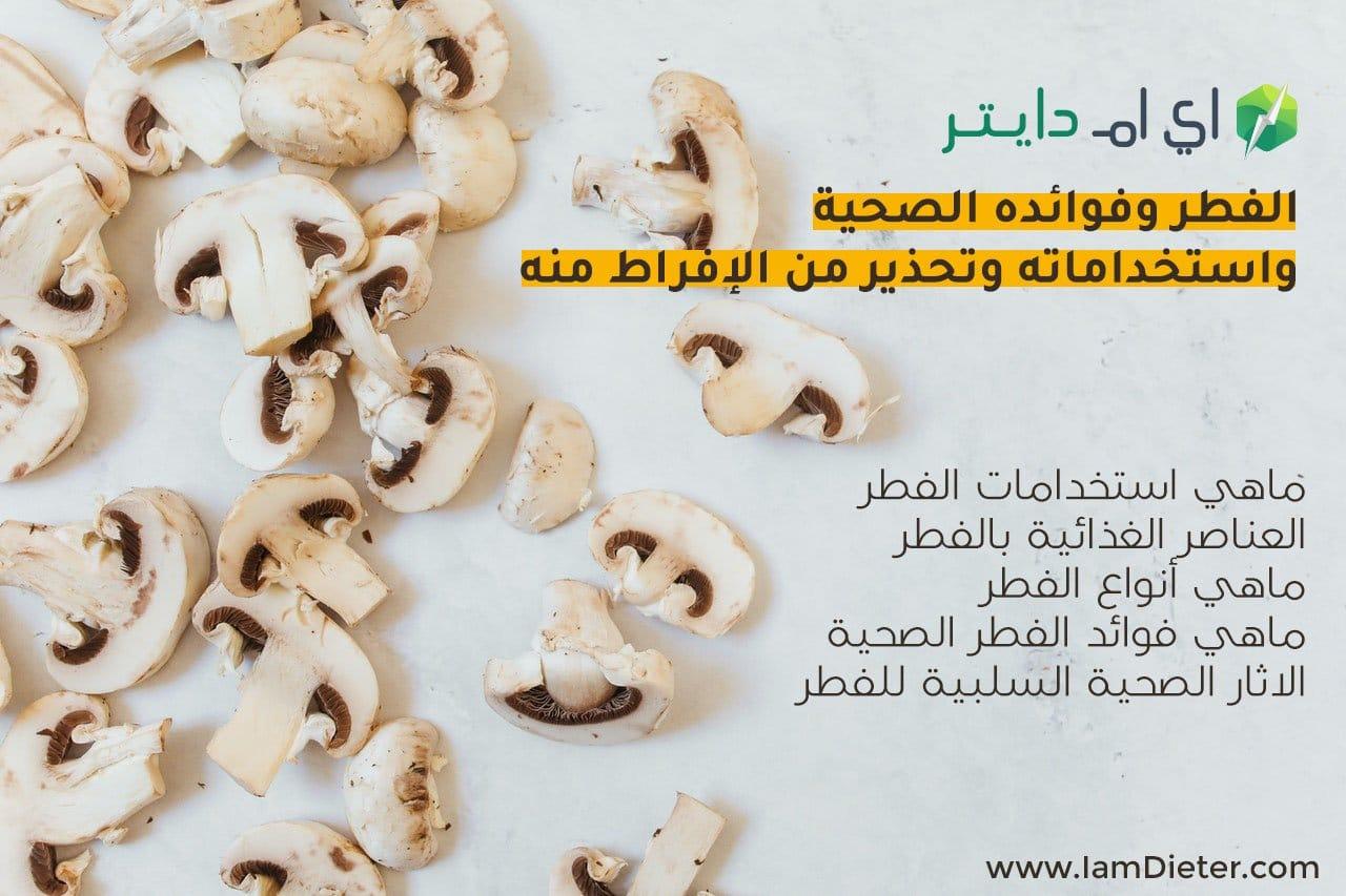 الفطر وفوائده الصحية واستخداماته وتحذير من الإفراط منه